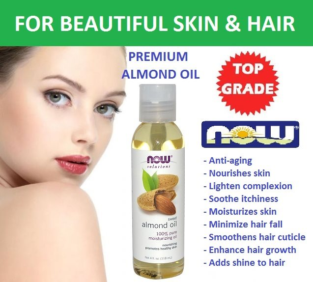 now solutions almond oil For skin and hair