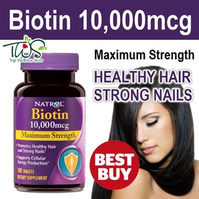 Natrol Biotin 10,000 mcg benefits
