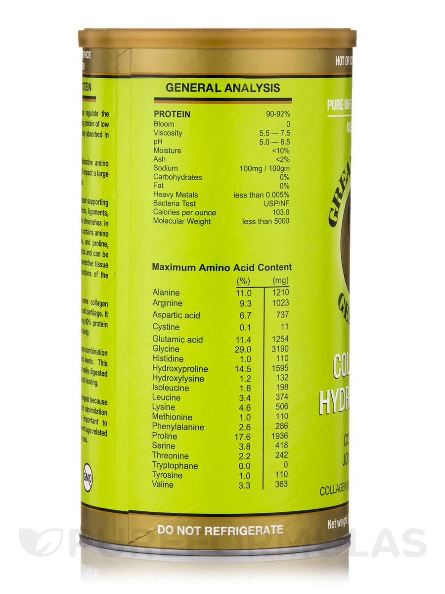 great lakes gelatin collagen hydrolysate side effects