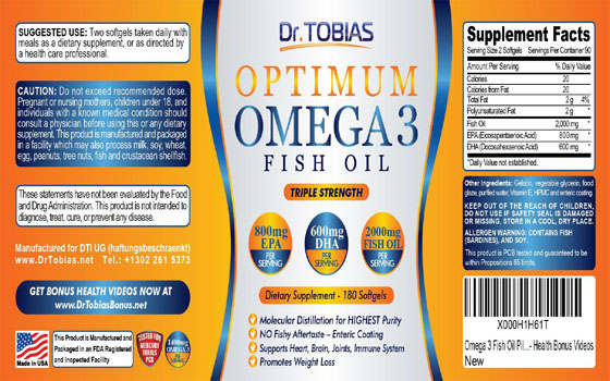DR. TOBIAS OMEGA 3 FISH OIL