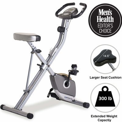 1. Exerpeutic Folding Magnetic Upright Exercise Bike with Pulse